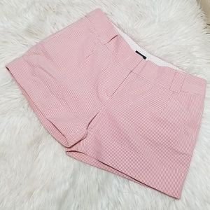 J Crew Stripped Pink/Red shorts City Fit sz 10